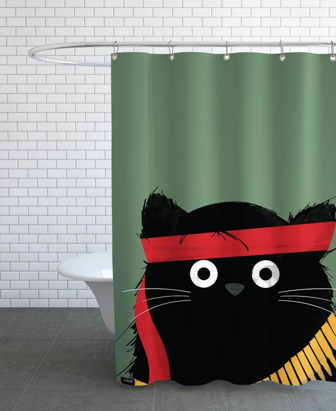 Cat - Rambo Shower Curtain