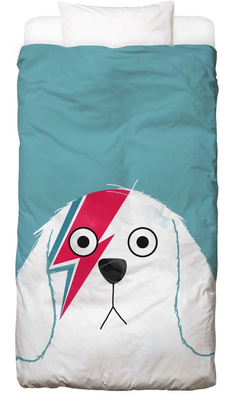 Chiens, David Bowie, Dog Bowie White Linge de lit