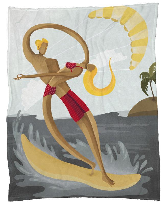 Surf Love -Fleecedecke