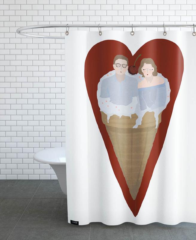 Liebe & Jahrestage, Paare, Hochzeiten, Two Scoops Are Better -Duschvorhang