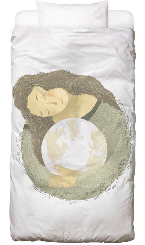 Kinderzimmer & Kunst für Kinder, Traumwelt, Love Earth -Kinderbettwäsche