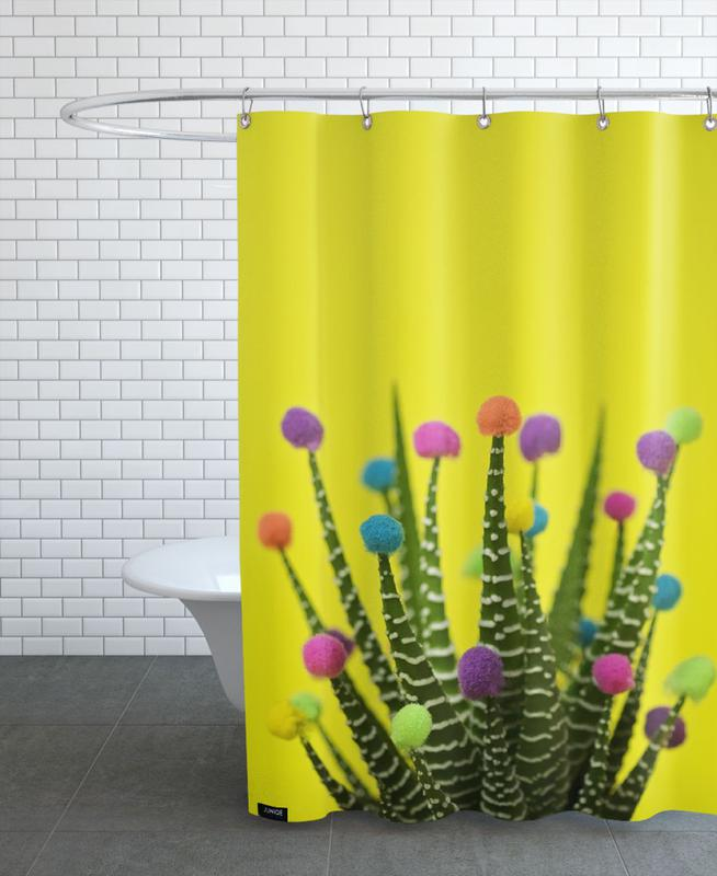 Geburtstage, Kaktus, Haworthia in Bloom -Duschvorhang