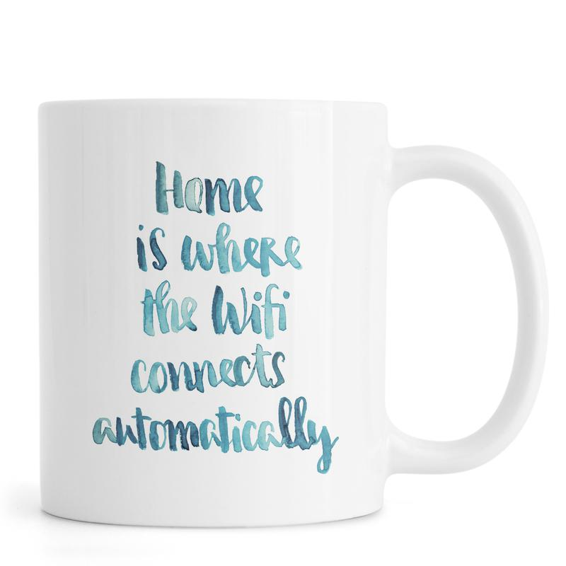 Housewarmings, Quotes en slogans, Wifi Home mok