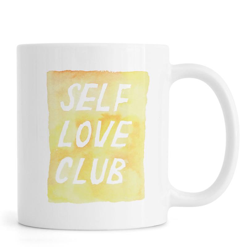 Zitate & Slogans, Motivation, Self Love Club 2 -Tasse