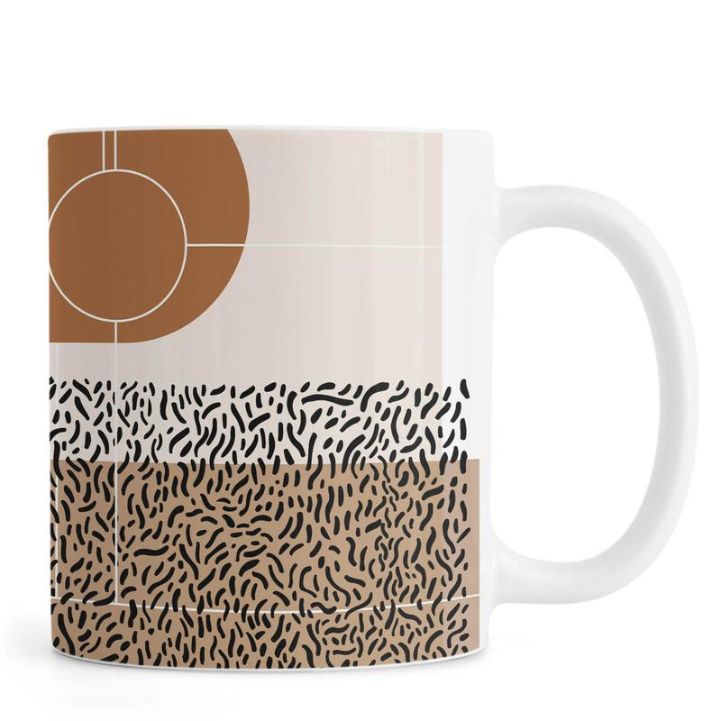 Beige & Brown -Tasse