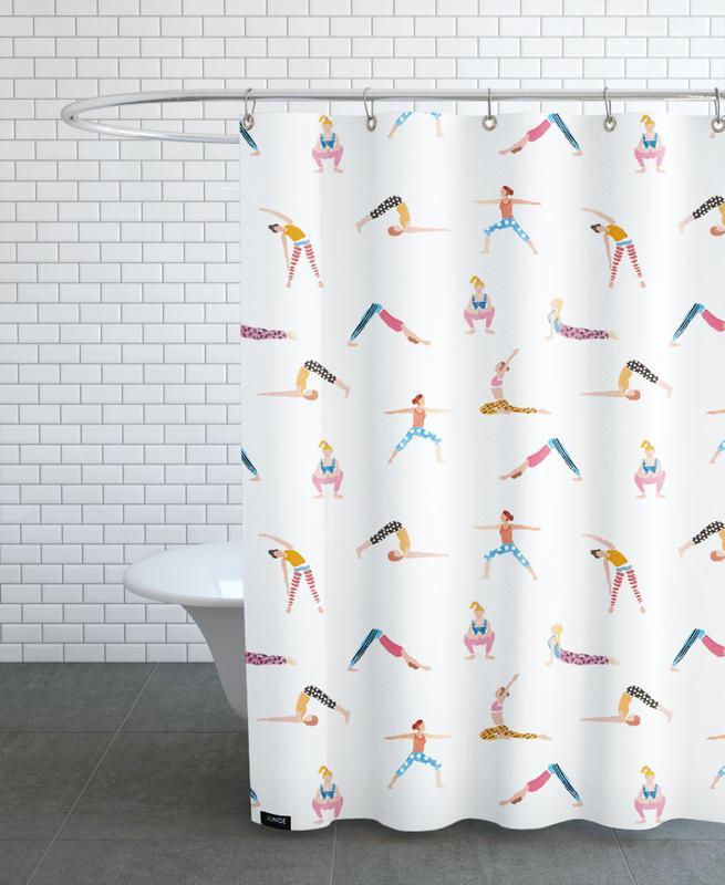 Yoga People -Duschvorhang