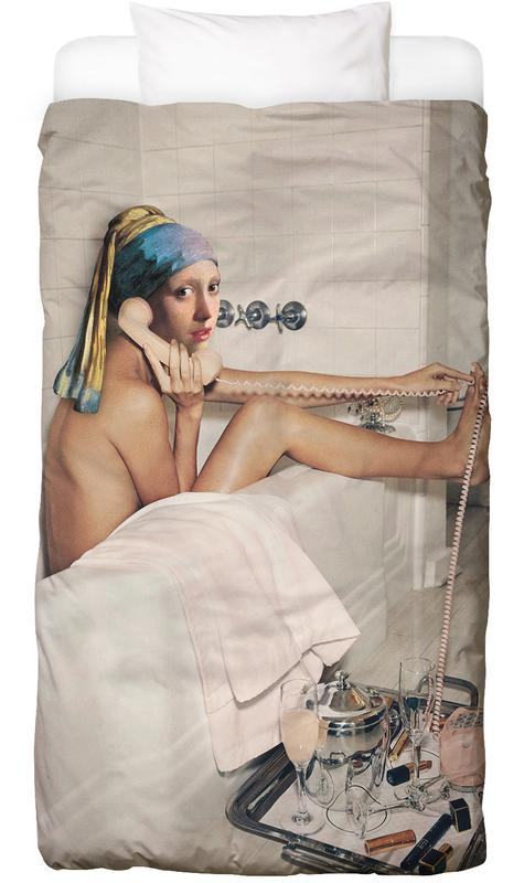 Girl with Pearl Earring Bath time Bettwäsche