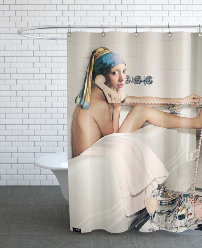 Girl with Pearl Earring Bath time rideau de douche