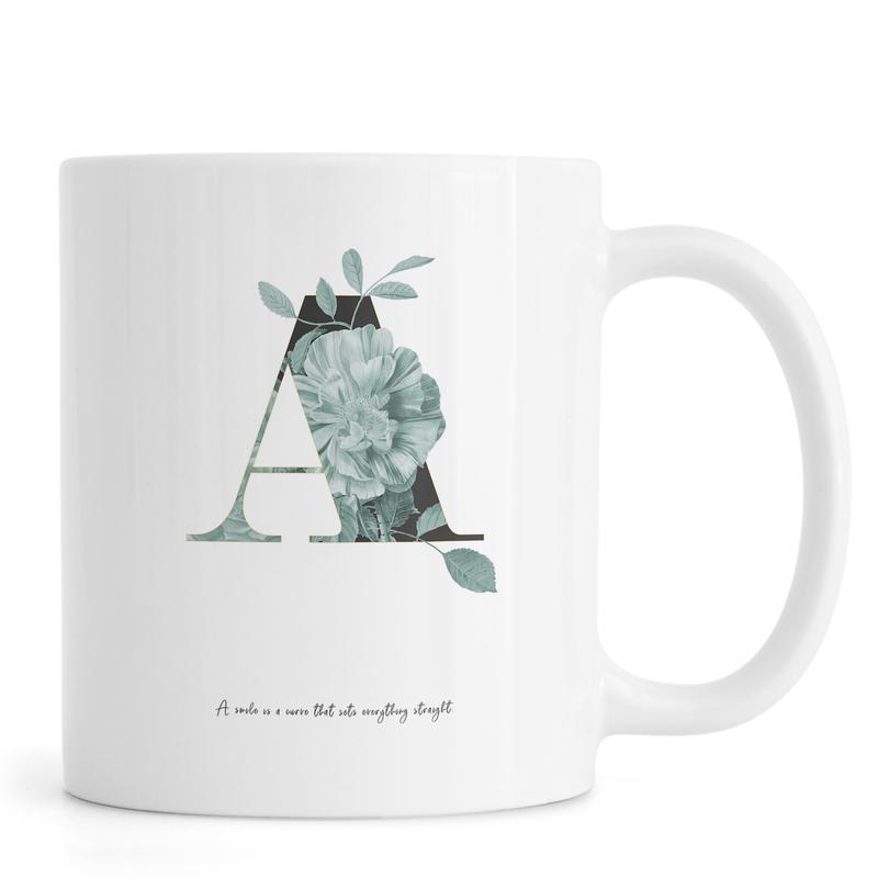 Flower Alphabet - A Mug
