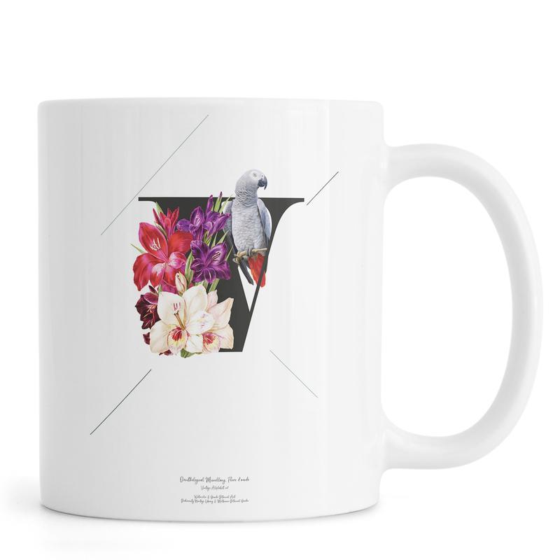 Botanical Alphabet - V -Tasse