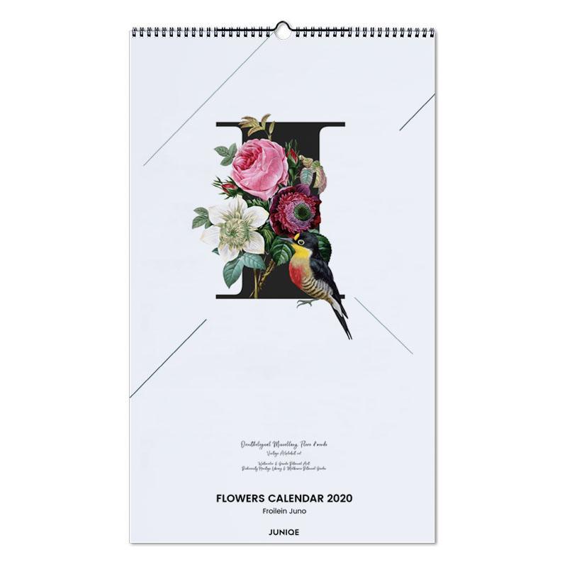 Flowers Calendar 2020 - Froilein Juno Wall Calendar