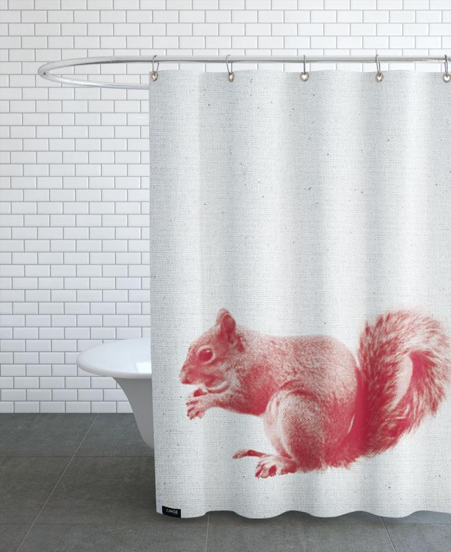 Kinderzimmer & Kunst für Kinder, Eichhörnchen, Squirrel -Duschvorhang