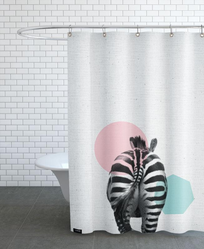 Kinderzimmer & Kunst für Kinder, Zebras, Zebra -Duschvorhang