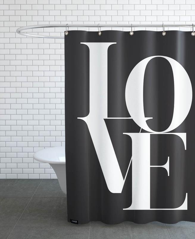 Noir & blanc, Anniversaires de mariage et amour, Citations et slogans, Love 1 rideau de douche