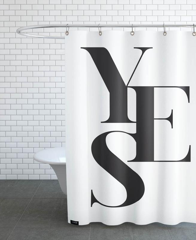 Zitate & Slogans, Schwarz & Weiß, Glückwünsche, Hochzeiten, Yes 2 -Duschvorhang