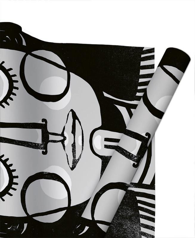 Black & White, Frida Kahlo, Dreaming Frida Gift Wrap
