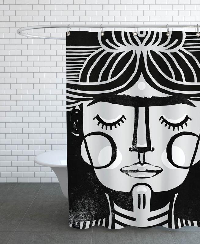 Noir & blanc, Frida Kahlo, Dreaming Frida rideau de douche