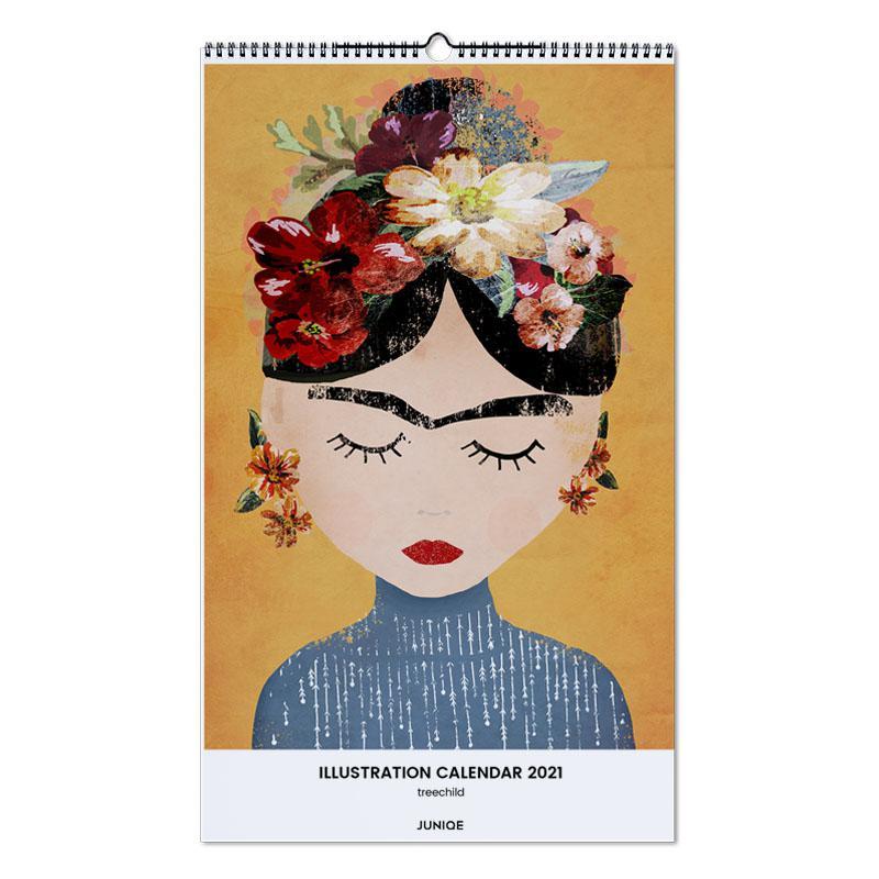 , treechild - Illustration Calendar 2021 Calendar 2021 wandkalender