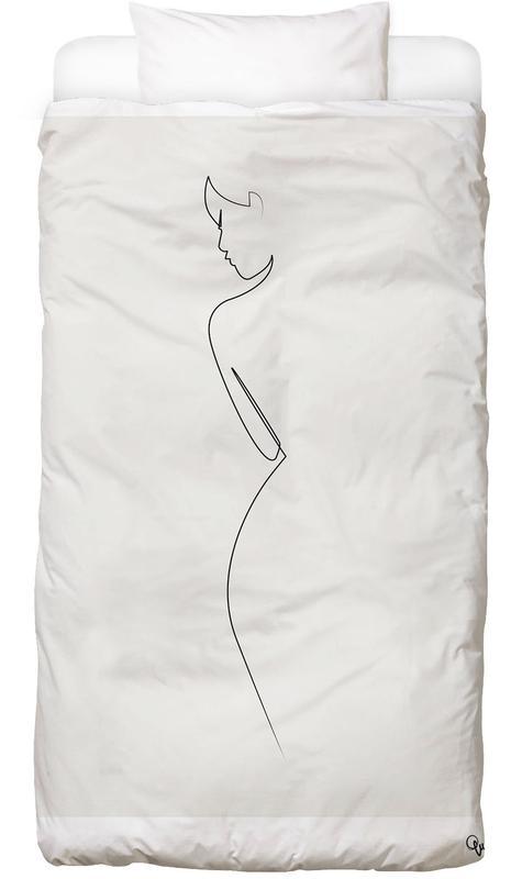 Nus, Noir & blanc, One Line Nude Linge de lit