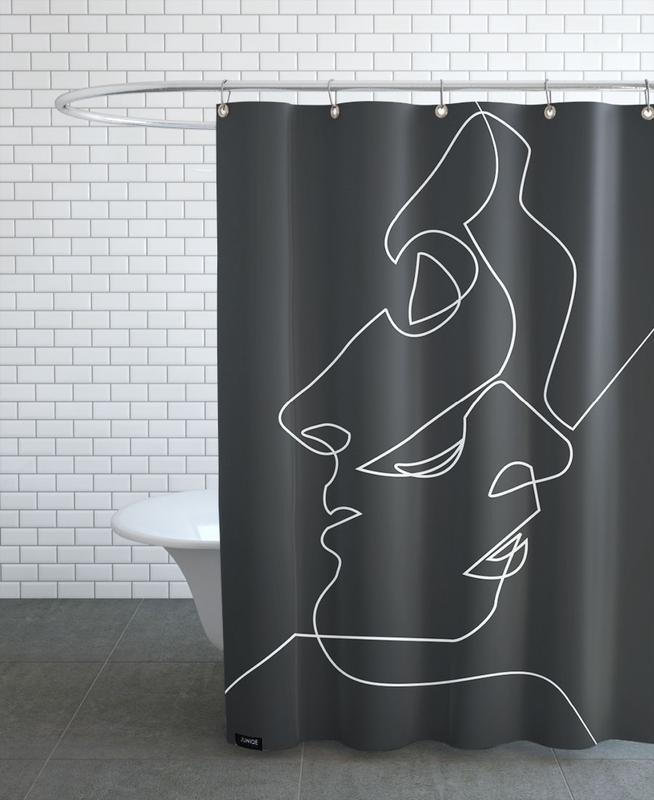 Close Noir Shower Curtain