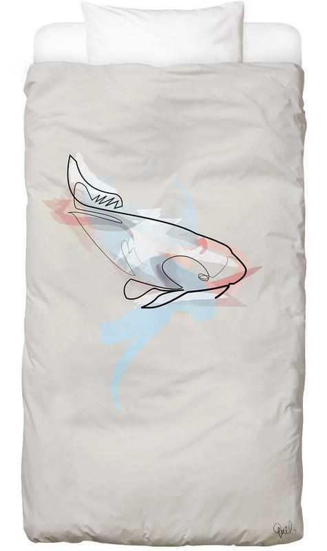 One Line Koi Fish Bed Linen