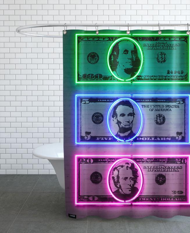 Dollars Shower Curtain