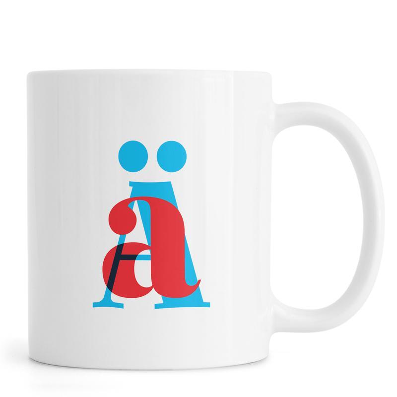 Cyan/Red Ä Mug