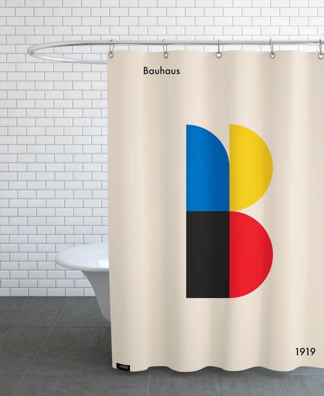 B for Bauhaus Shower Curtain