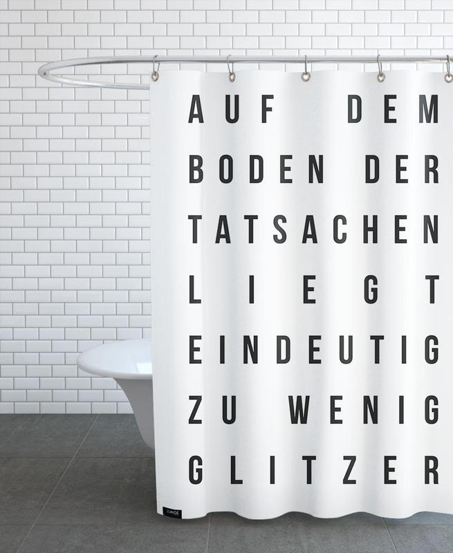 Sabrina's Glitzer -Duschvorhang