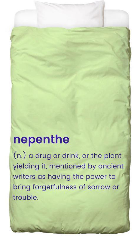 Excuses, Nepenthe Linge de lit