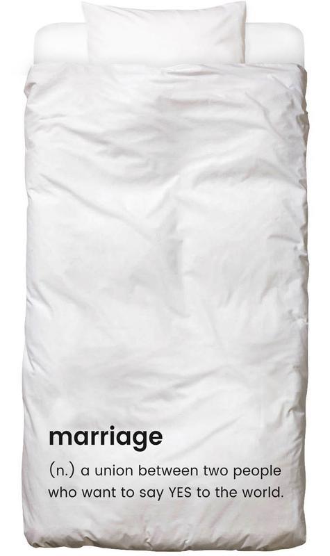 Schwarz & Weiß, Hochzeiten, Marriage Bettwäsche