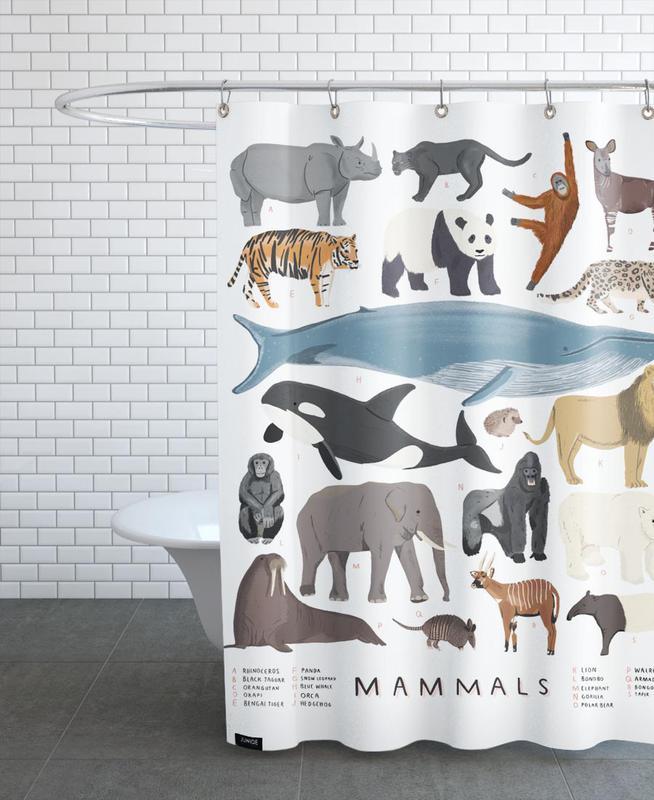 Mammals Shower Curtain
