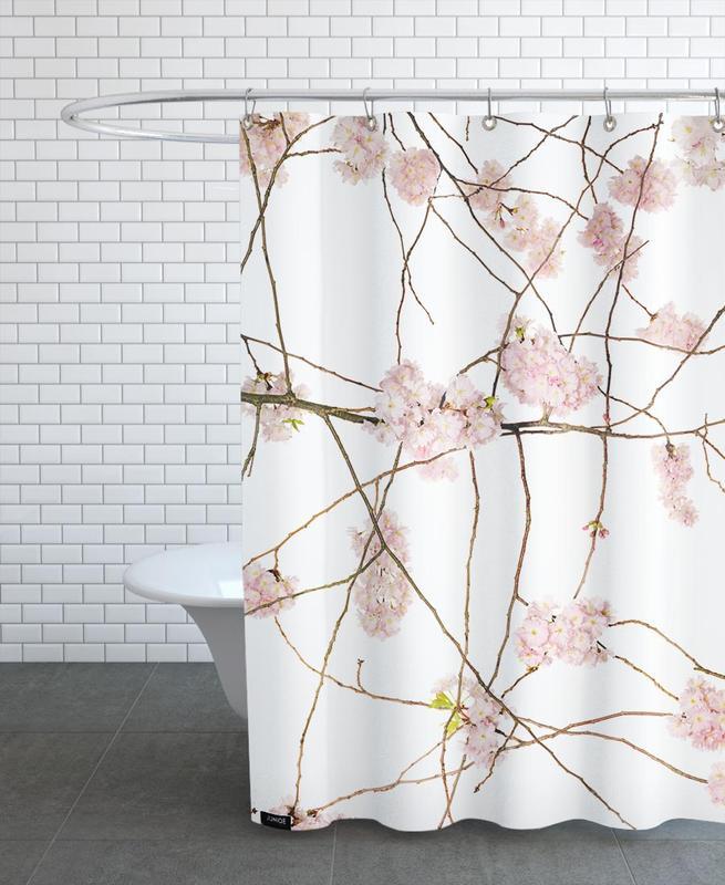 Flora - Japanische Kirsche -Duschvorhang