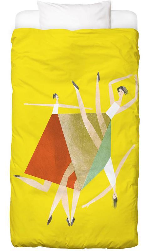 Dancing Yellow -Kinderbettwäsche