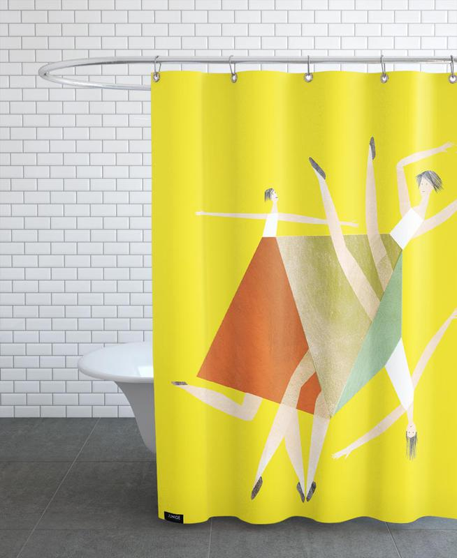 Dancing Yellow -Duschvorhang