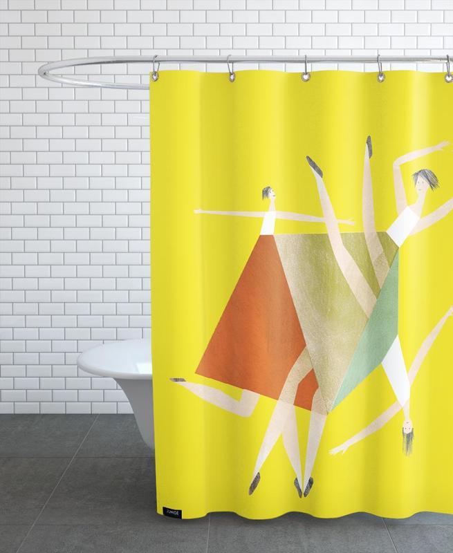 Danse, Dancing Yellow rideau de douche
