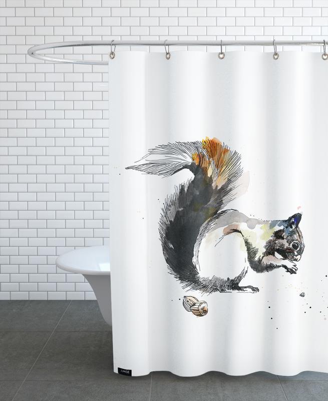 Kinderzimmer & Kunst für Kinder, Eichhörnchen, Ella -Duschvorhang