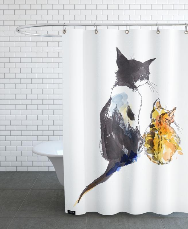 Chats, Art pour enfants, Karlo & Klara rideau de douche