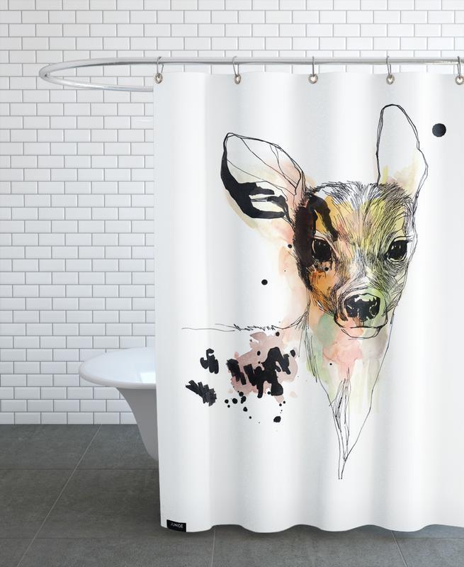 Cerfs, Art pour enfants, Rickeltje rideau de douche