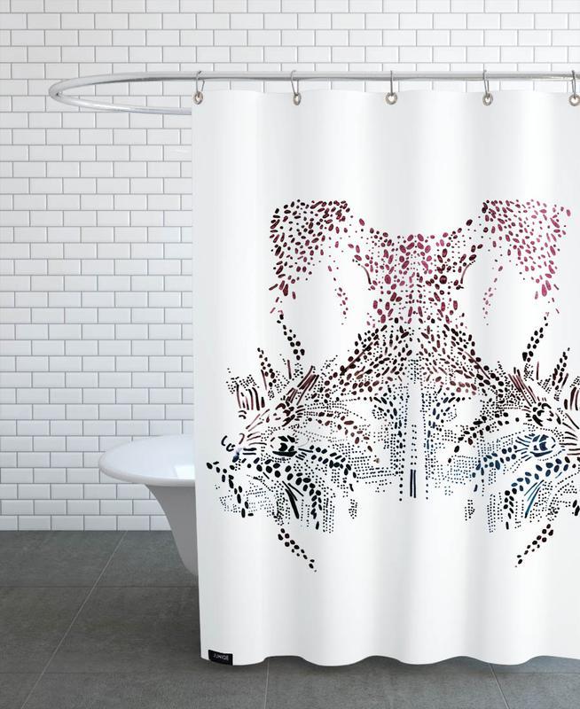 Amsterdam, Cartes de villes, Amsterdam Vintage rideau de douche