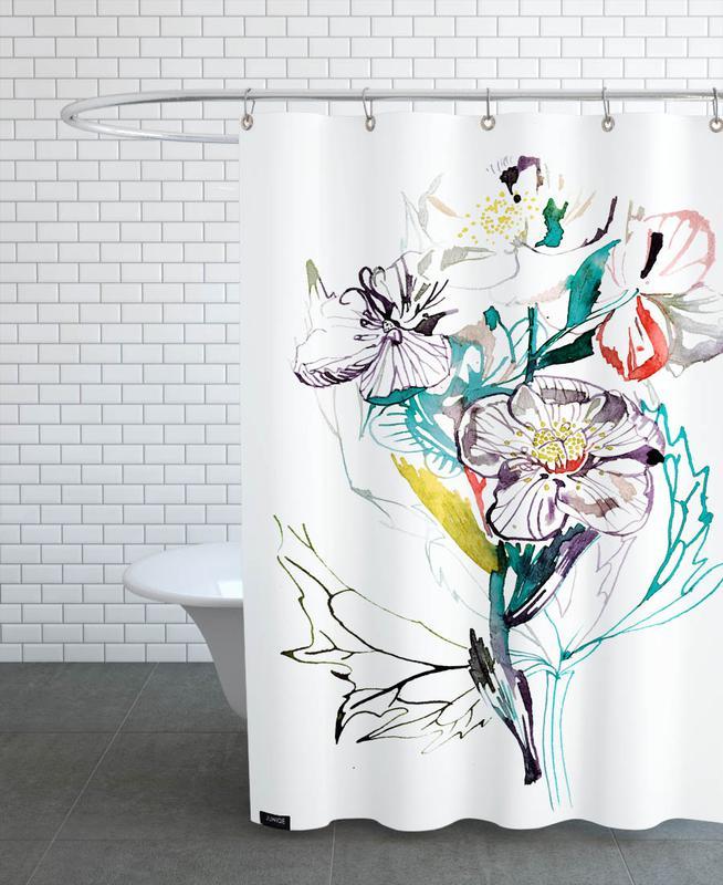 Barcelona Vintage Shower Curtain