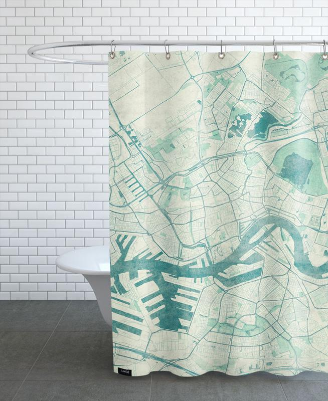 City Maps, Rotterdam, Rotterdam Vintage Shower Curtain