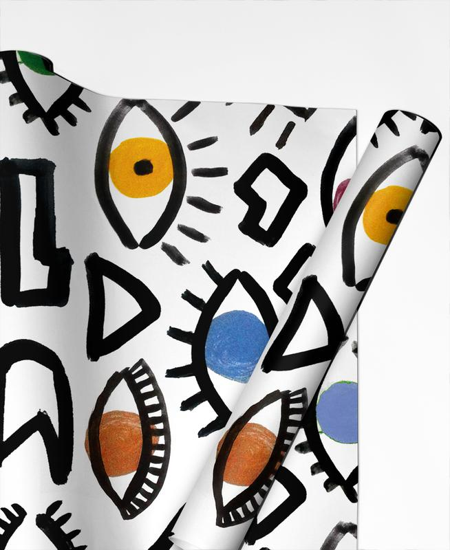 Geometric Eyes Gift Wrap