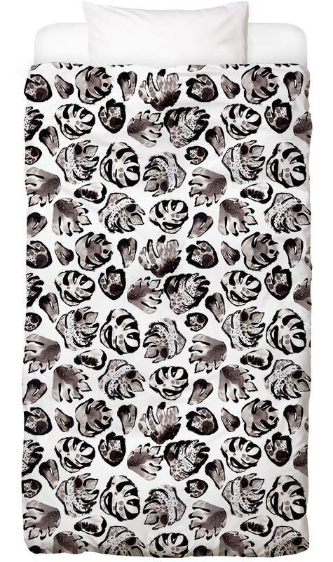 Monstera Ink Bed Linen