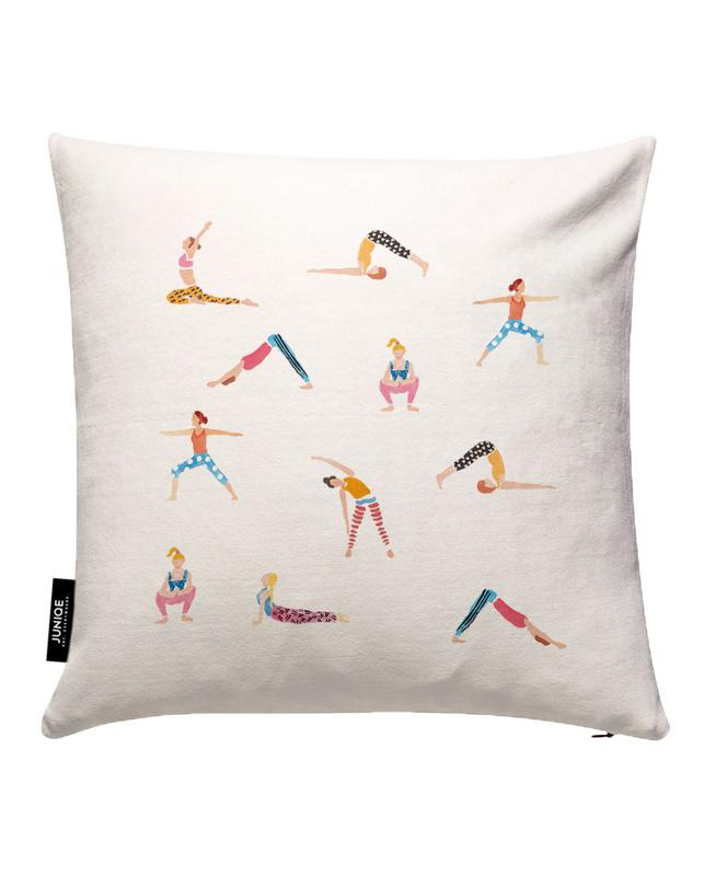 Yoga People Cushion Cover
