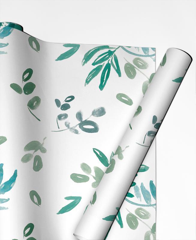 Noël, Feuilles & Plantes, Eukalyptus papier cadeau