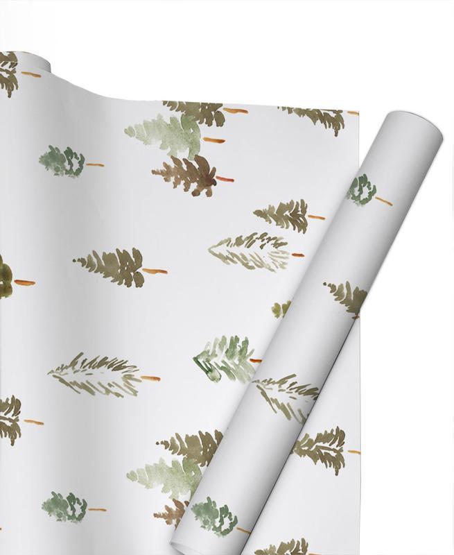 Weihnachten, Bäume, Tannenwald -Geschenkpapier