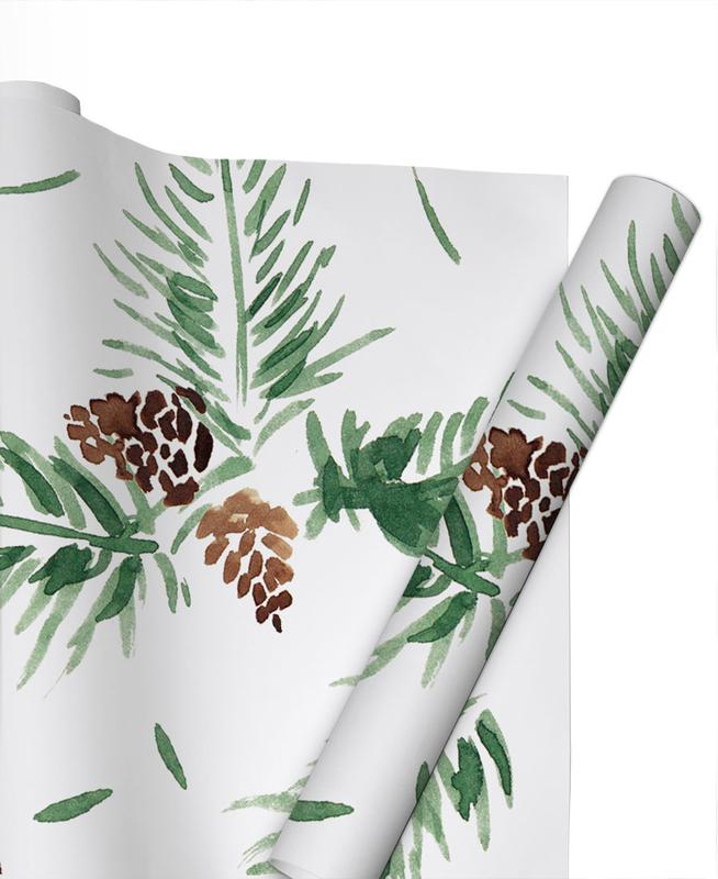 Christmas, Leaves & Plants, Tannenzweige Gift Wrap