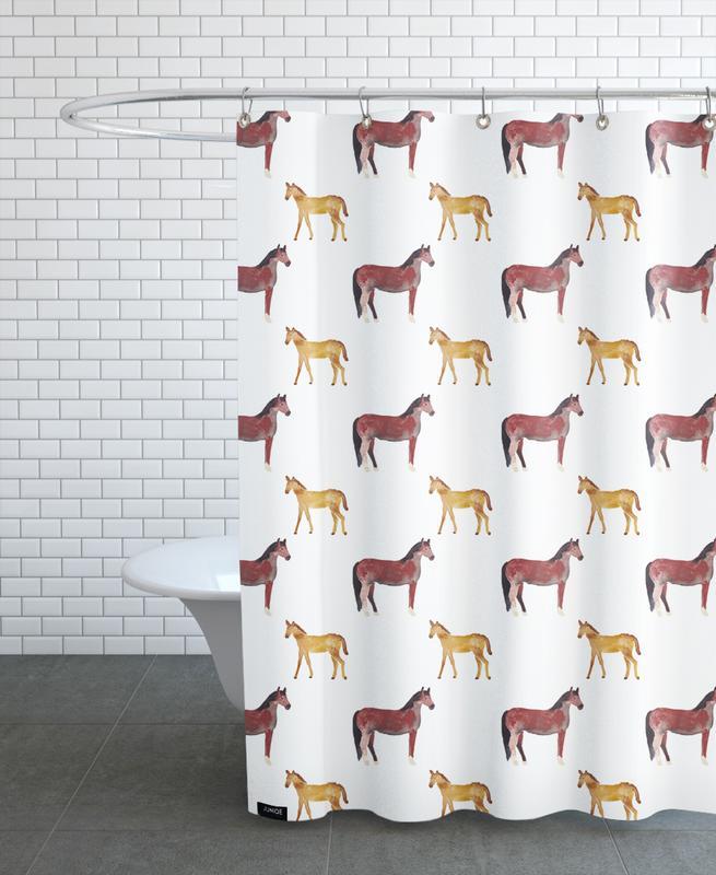 Pferde, Kinderzimmer & Kunst für Kinder, Horse -Duschvorhang