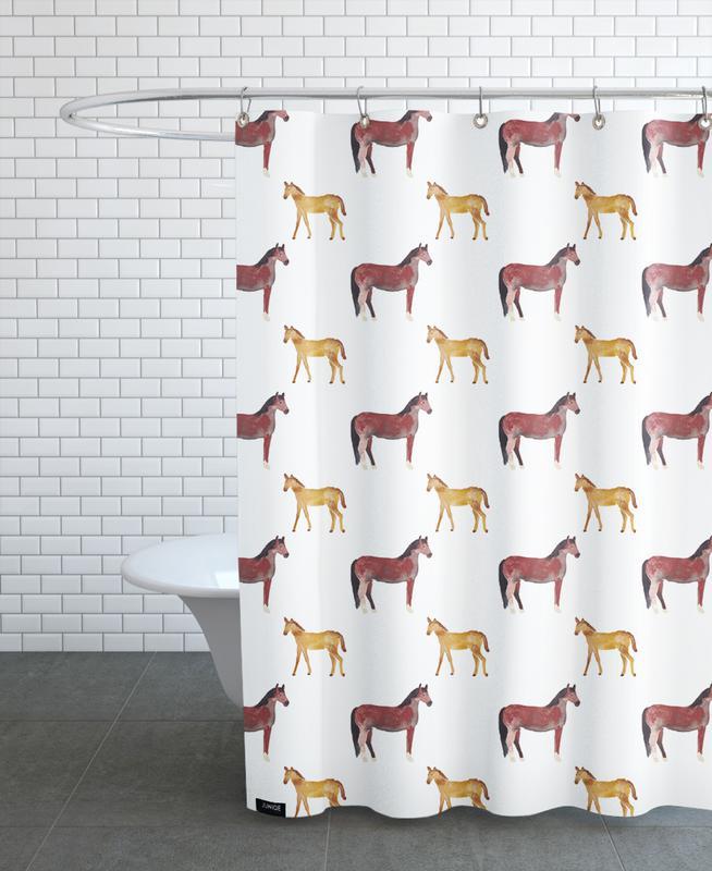 Chevaux, Art pour enfants, Horse rideau de douche